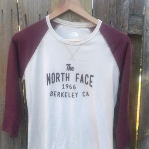 The North Face baseball tee